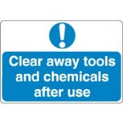 Mandatory Safety Sign - Clear Away Tools 036